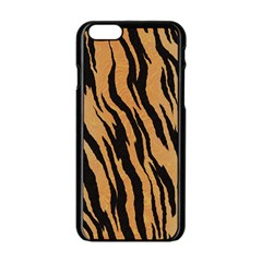 Tiger Animal Print A Completely Seamless Tile Able Background Design Pattern Apple Iphone 6/6s Black Enamel Case
