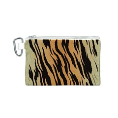 Tiger Animal Print A Completely Seamless Tile Able Background Design Pattern Canvas Cosmetic Bag (S)