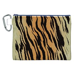 Tiger Animal Print A Completely Seamless Tile Able Background Design Pattern Canvas Cosmetic Bag (xxl)