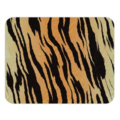 Tiger Animal Print A Completely Seamless Tile Able Background Design Pattern Double Sided Flano Blanket (large)