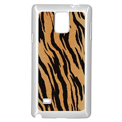 Tiger Animal Print A Completely Seamless Tile Able Background Design Pattern Samsung Galaxy Note 4 Case (white)