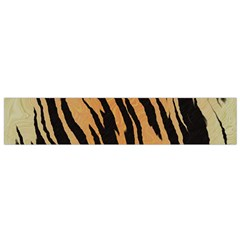 Tiger Animal Print A Completely Seamless Tile Able Background Design Pattern Flano Scarf (small)