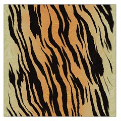 Tiger Animal Print A Completely Seamless Tile Able Background Design Pattern Large Satin Scarf (square)