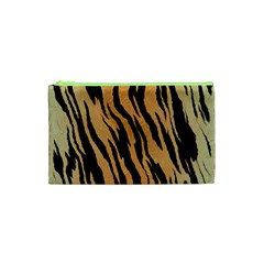 Tiger Animal Print A Completely Seamless Tile Able Background Design Pattern Cosmetic Bag (xs)