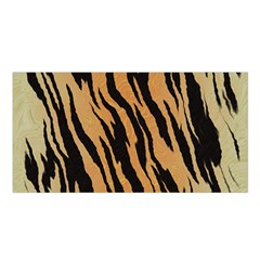 Tiger Animal Print A Completely Seamless Tile Able Background Design Pattern Satin Shawl
