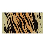 Tiger Animal Print A Completely Seamless Tile Able Background Design Pattern Satin Shawl Front