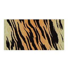 Tiger Animal Print A Completely Seamless Tile Able Background Design Pattern Satin Wrap