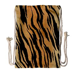 Tiger Animal Print A Completely Seamless Tile Able Background Design Pattern Drawstring Bag (large)