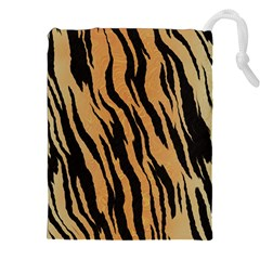 Tiger Animal Print A Completely Seamless Tile Able Background Design Pattern Drawstring Pouches (XXL)