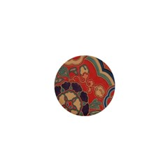 Vintage Chinese Brocade 1  Mini Buttons