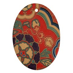 Vintage Chinese Brocade Ornament (Oval)