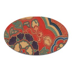 Vintage Chinese Brocade Oval Magnet
