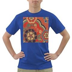Vintage Chinese Brocade Dark T Shirt