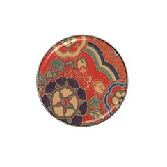 Vintage Chinese Brocade Hat Clip Ball Marker