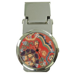 Vintage Chinese Brocade Money Clip Watches