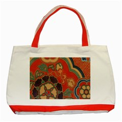 Vintage Chinese Brocade Classic Tote Bag (red)