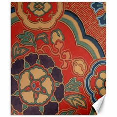 Vintage Chinese Brocade Canvas 20  X 24