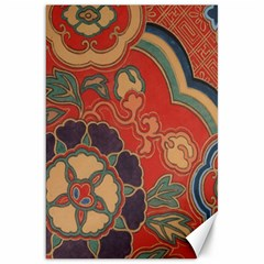 Vintage Chinese Brocade Canvas 20  X 30