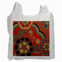 Vintage Chinese Brocade Recycle Bag (one Side)
