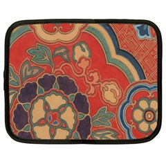 Vintage Chinese Brocade Netbook Case (xl)