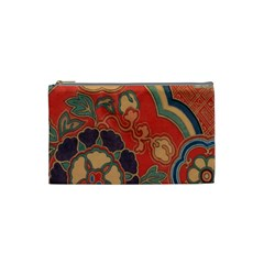 Vintage Chinese Brocade Cosmetic Bag (Small)