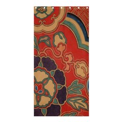 Vintage Chinese Brocade Shower Curtain 36  X 72  (stall)