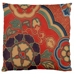Vintage Chinese Brocade Large Cushion Case (two Sides)