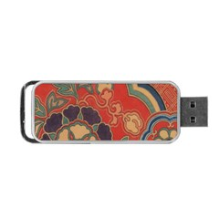 Vintage Chinese Brocade Portable Usb Flash (one Side)