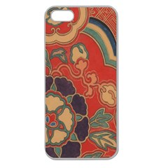 Vintage Chinese Brocade Apple Seamless iPhone 5 Case (Clear)