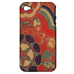 Vintage Chinese Brocade Apple Iphone 4/4s Hardshell Case (pc+silicone)
