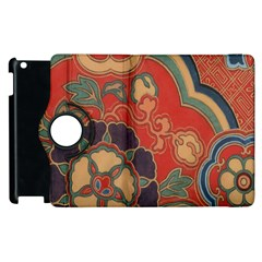 Vintage Chinese Brocade Apple Ipad 3/4 Flip 360 Case