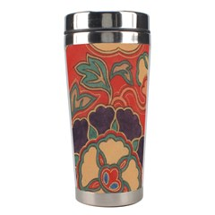 Vintage Chinese Brocade Stainless Steel Travel Tumblers