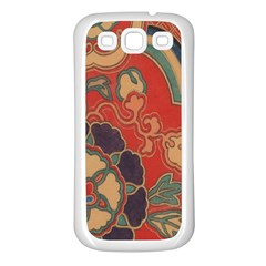 Vintage Chinese Brocade Samsung Galaxy S3 Back Case (white)