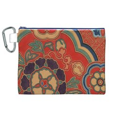 Vintage Chinese Brocade Canvas Cosmetic Bag (xl)