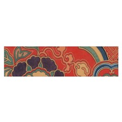 Vintage Chinese Brocade Satin Scarf (oblong)