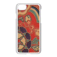 Vintage Chinese Brocade Apple Iphone 7 Seamless Case (white)