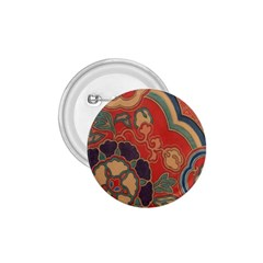 Vintage Chinese Brocade 1 75  Buttons