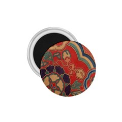 Vintage Chinese Brocade 1.75  Magnets