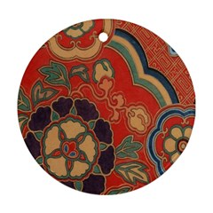 Vintage Chinese Brocade Ornament (Round)