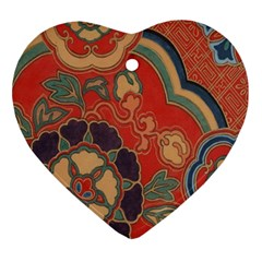 Vintage Chinese Brocade Ornament (Heart)