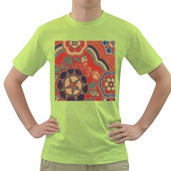 Vintage Chinese Brocade Green T Shirt