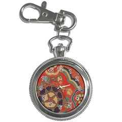 Vintage Chinese Brocade Key Chain Watches