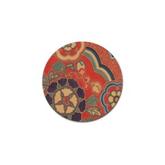 Vintage Chinese Brocade Golf Ball Marker (4 Pack)