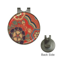 Vintage Chinese Brocade Hat Clips With Golf Markers
