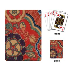 Vintage Chinese Brocade Playing Card