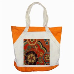 Vintage Chinese Brocade Accent Tote Bag
