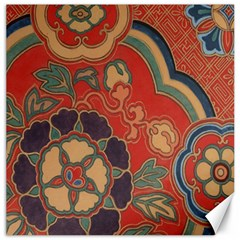 Vintage Chinese Brocade Canvas 20  X 20