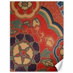 Vintage Chinese Brocade Canvas 36  x 48