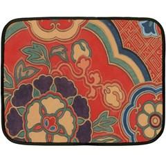 Vintage Chinese Brocade Double Sided Fleece Blanket (Mini)