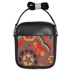 Vintage Chinese Brocade Girls Sling Bags